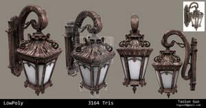 Victorian Wall Mount Light Prop Model