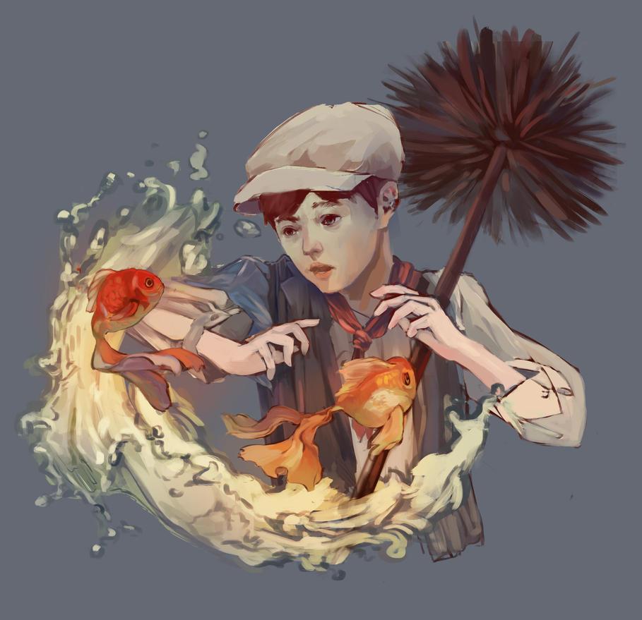Chimney Sweep illustration by DwaejTokki