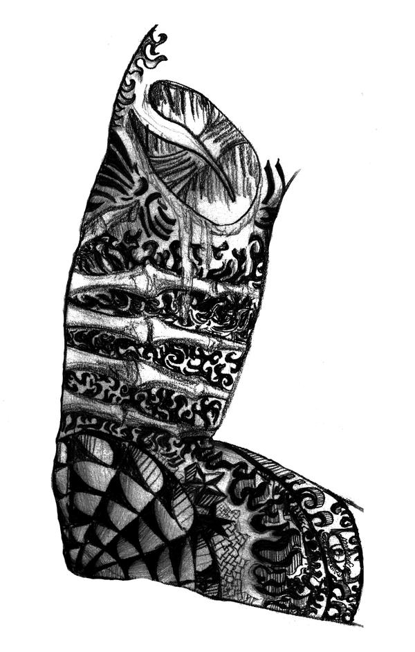 leg sleeve tattoos  le...