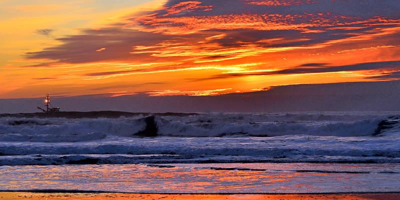 Sunset w/Trawler