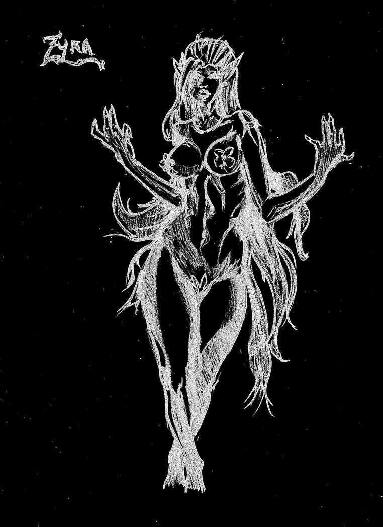 Mes dessins <3. - Page 2 Zyra_league_of_legends_by_visu_kei-d5n0oaa