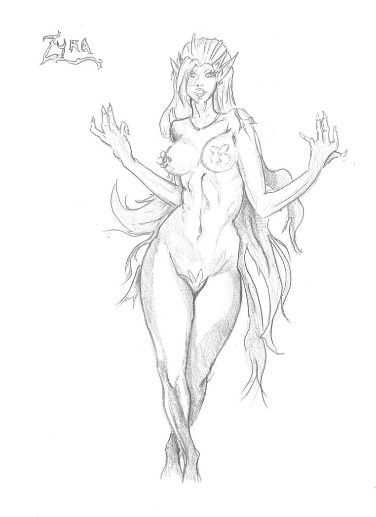 Mes dessins <3. - Page 2 Zyra_league_of_legends_by_visu_kei-d5n0obw