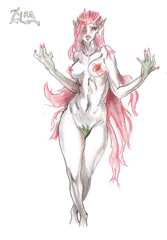 Mes dessins <3. - Page 2 Zyra_league_of_legends_by_visu_kei-d5n14mm