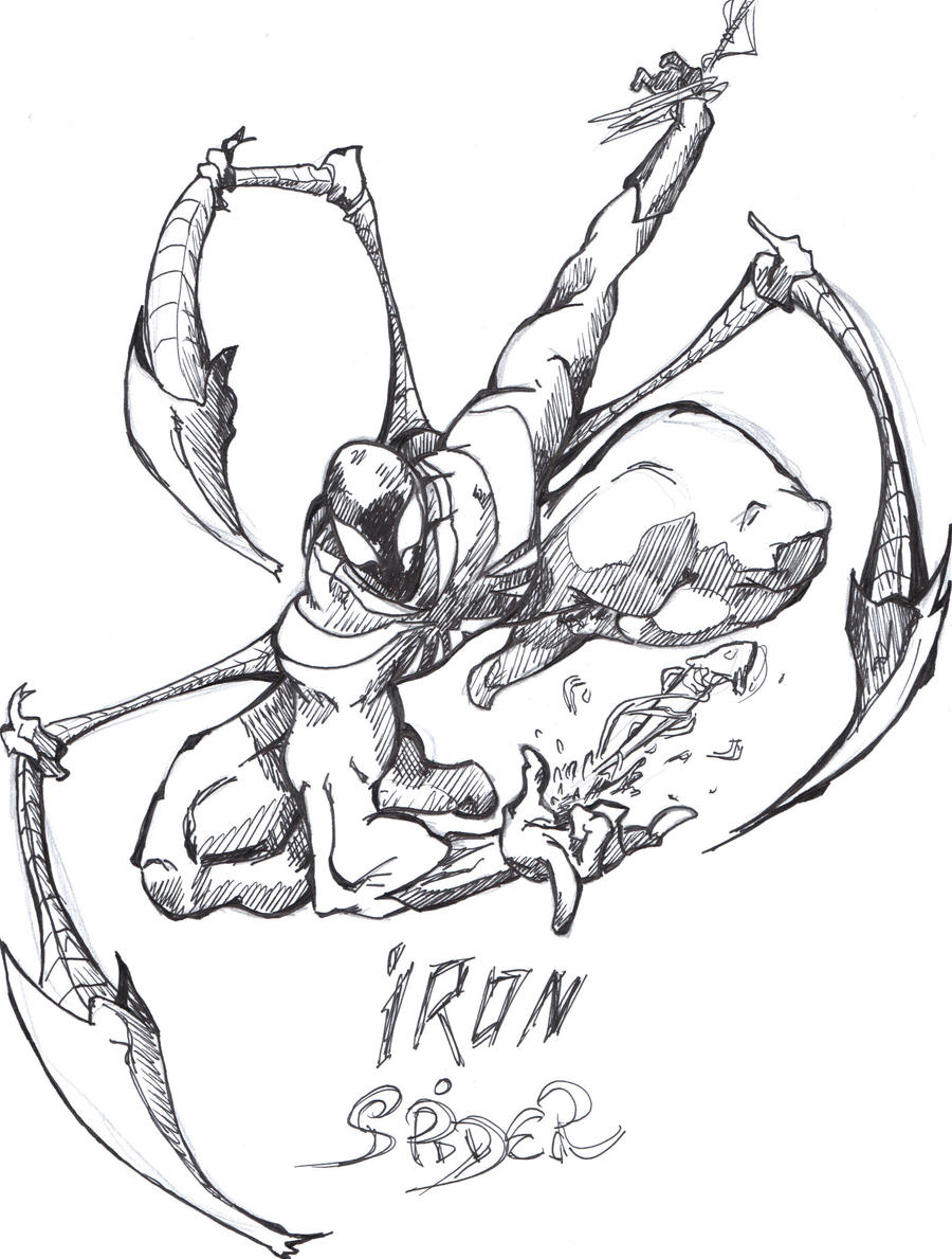 iron spider coloring pages - iron spider man drawings images