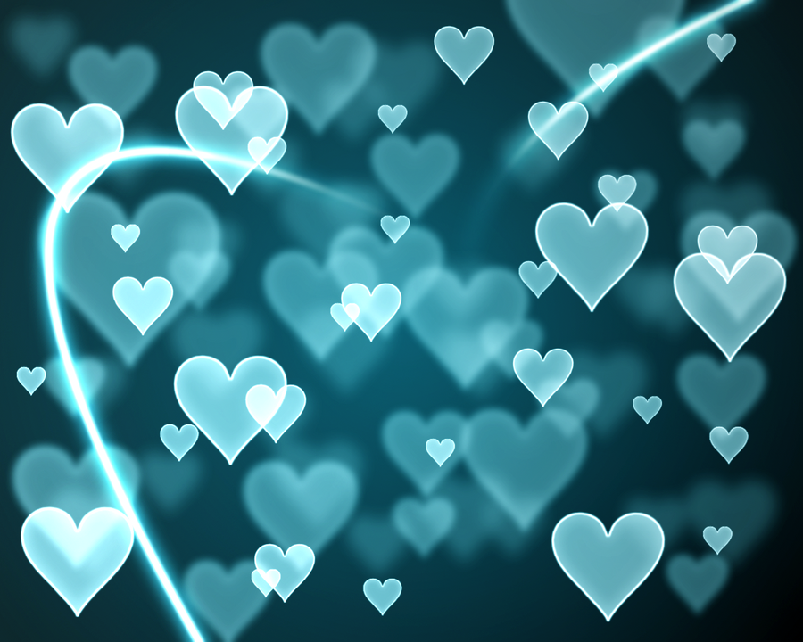 Thread: Bokeh H... Blue Heart Background Wallpaper