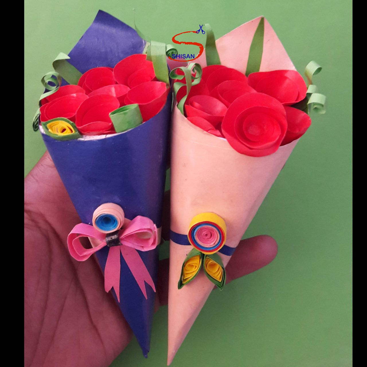 Eco Recycled Bouquet Mixed Origami Flowers - The Origami Boutique | 1280x1280