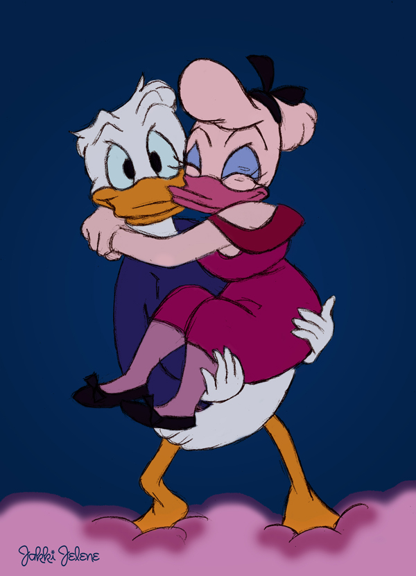 Baby donald duck and daisy
