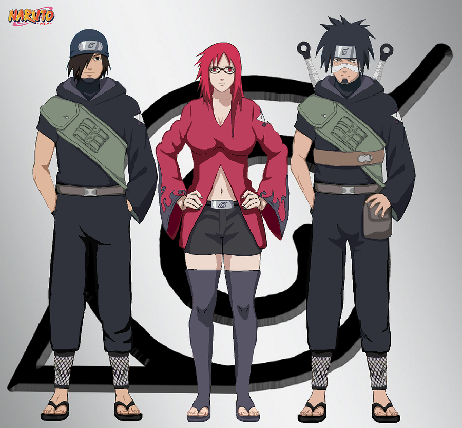 Woah Konohamaru Moegi And Udan All Grown Up Wow: Team Karin By IGodsrealmI On DeviantArt