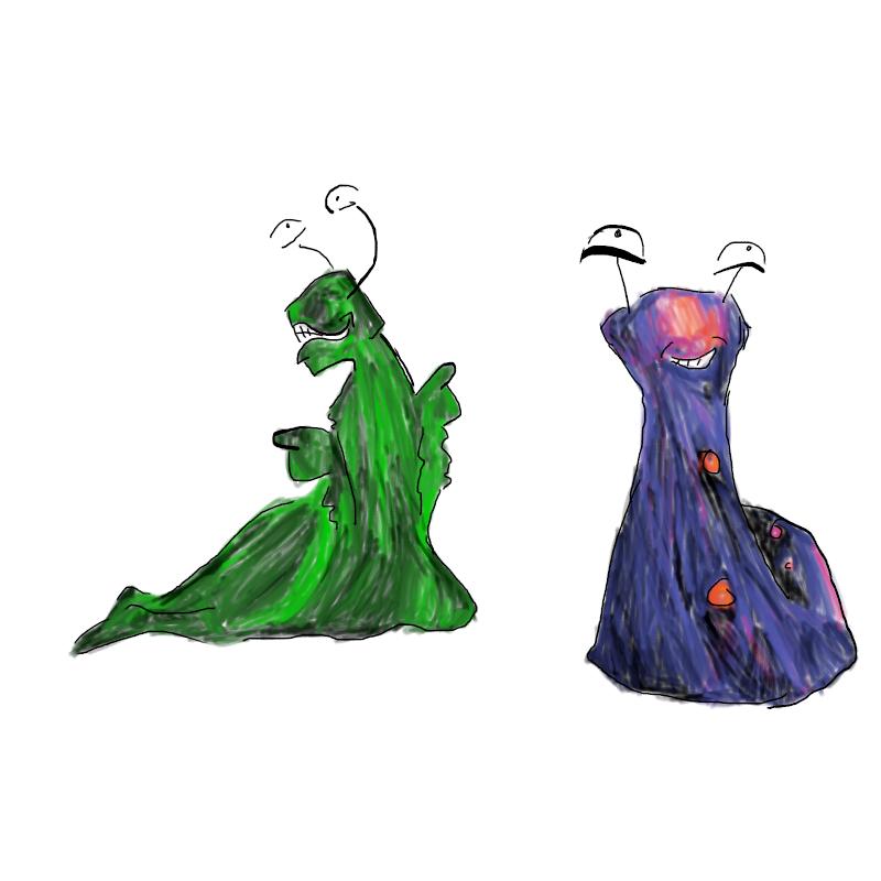 some slugs by LadyRavenSkye
