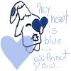 UglyStar.Blue Heart-MSNicon. by LadyRavenSkye