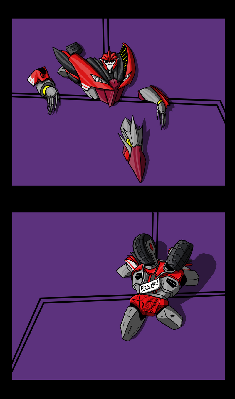 50 Nuances de Knockout Stuck_in_a_wall_by_laserbot-d5hqrkw