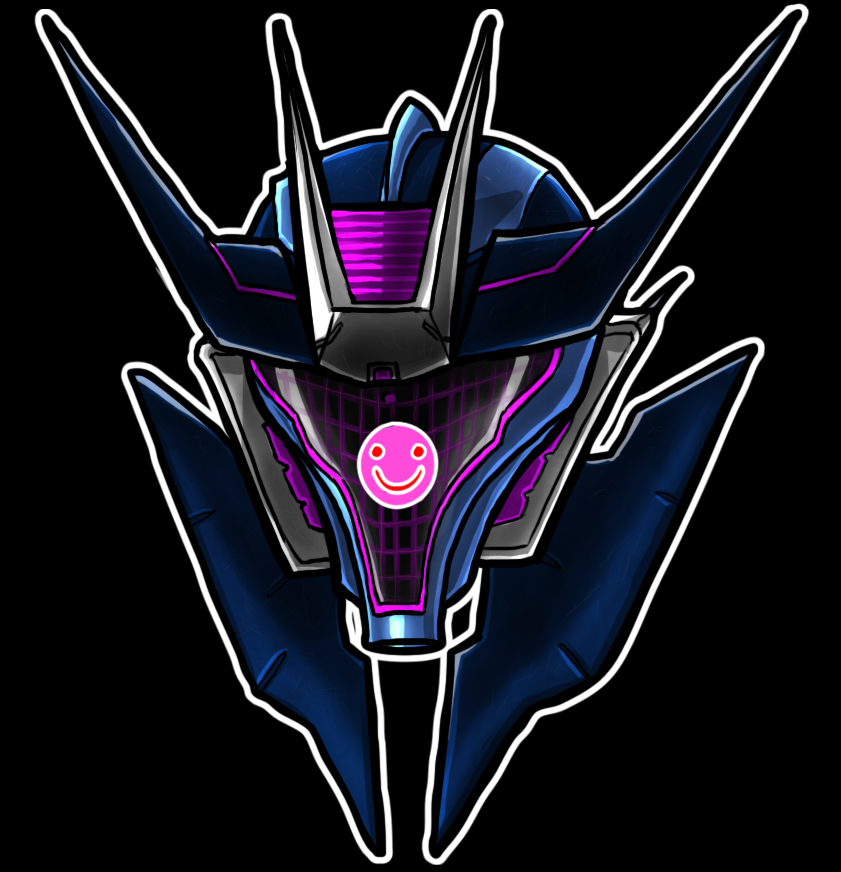 Soundwave Helm Smile by Laserbot