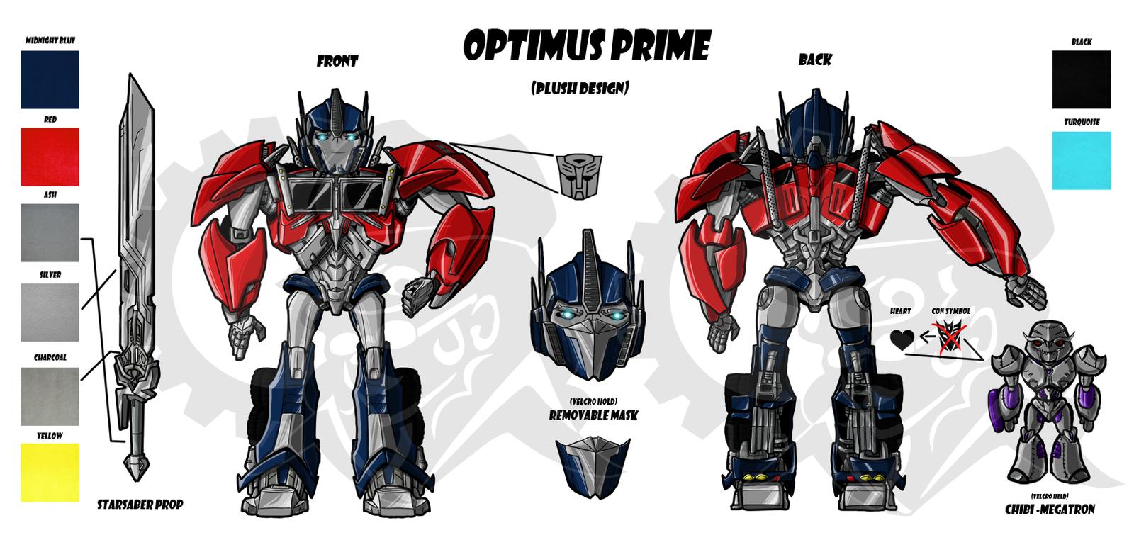 Optimus prime plush design sheet by laserbot on deviantart - Optimus prime dessin ...