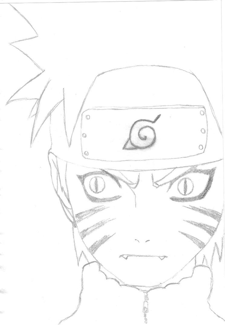 how to draw nine tails naruto step by step