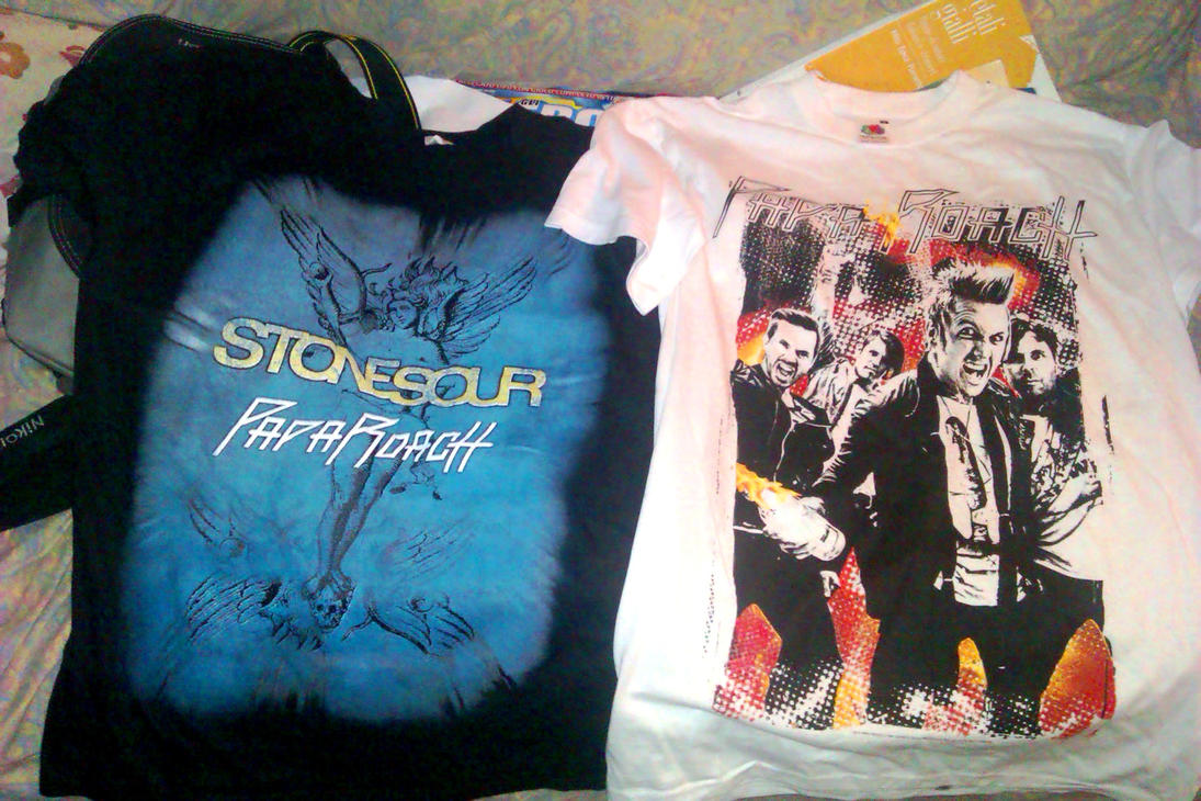 Papa Roach t-shirts by Gaia96Bennoda