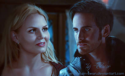 Emma and Hook by Elaine-captain-swan