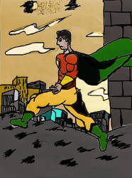 Heatman Comic Character Digital  by koustavmalick