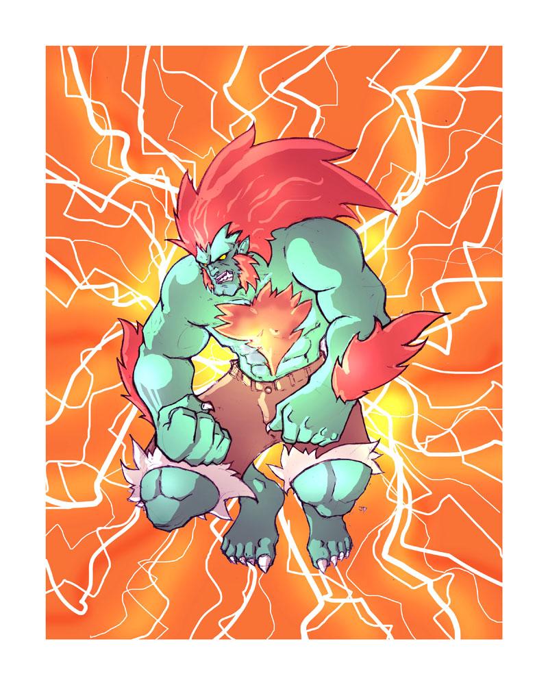 Street Fighter: Blanka by jdcunard