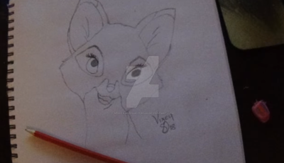 The Fox and The Hound - Vixey Drawing by SpiritAndDisneyFreak