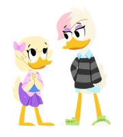 Lena and Webby by Roseyicywolf