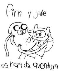Finn y Jake es hora de Aventur by AnetGiselle