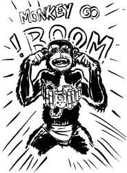 Monkey Go Boom by hollisdorian
