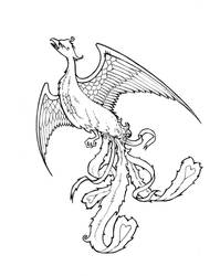Phoenix Tattoo BW by hollisdorian