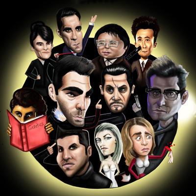 Heroes Caricatures by HeroforPain