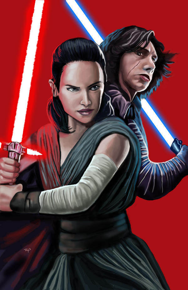 Throne room - Rey and Kylo by HeroforPain