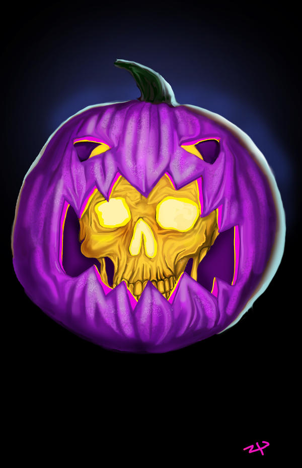 Purple Pumpkin People Eater by HeroforPain