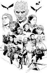 Battle of Winterfell - Ink by HeroforPain