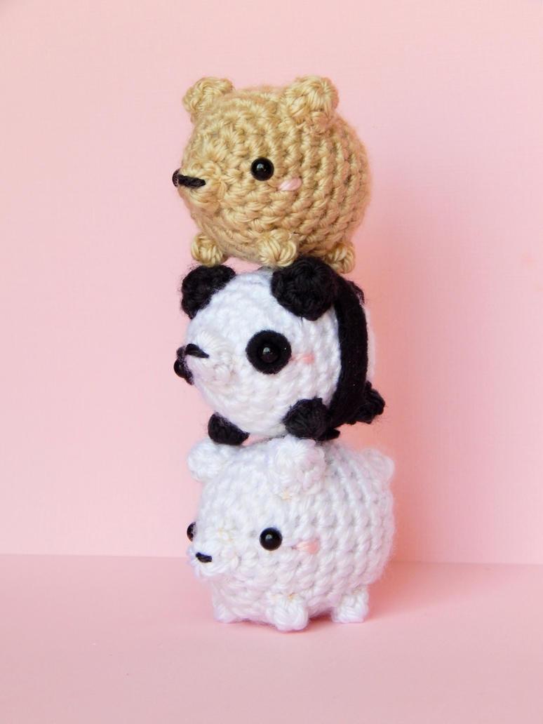 We Bare Bears Amigurumi (bearstack) by bubblytea-shop on ...