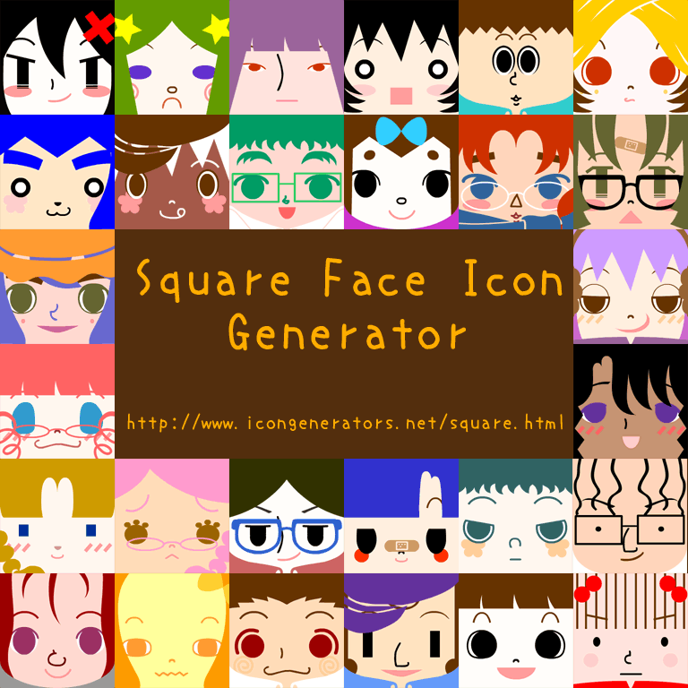 Square Face Icon Generator by h071019 on DeviantArt