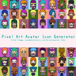 Pixel Art Avatar Icon Generator by h071019