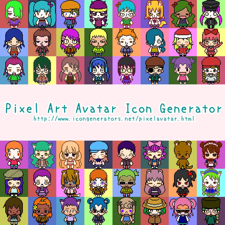 Pixel Art Avatar Icon Generator by h071019 on DeviantArt