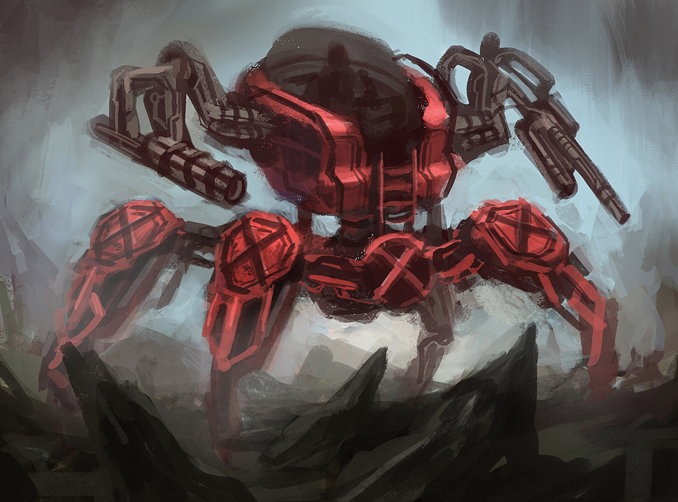 Red Mech by eddie-mendoza
