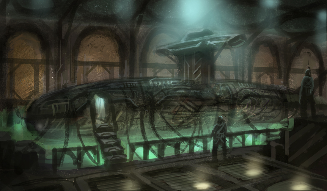 Submarine Dock by eddie-mendoza