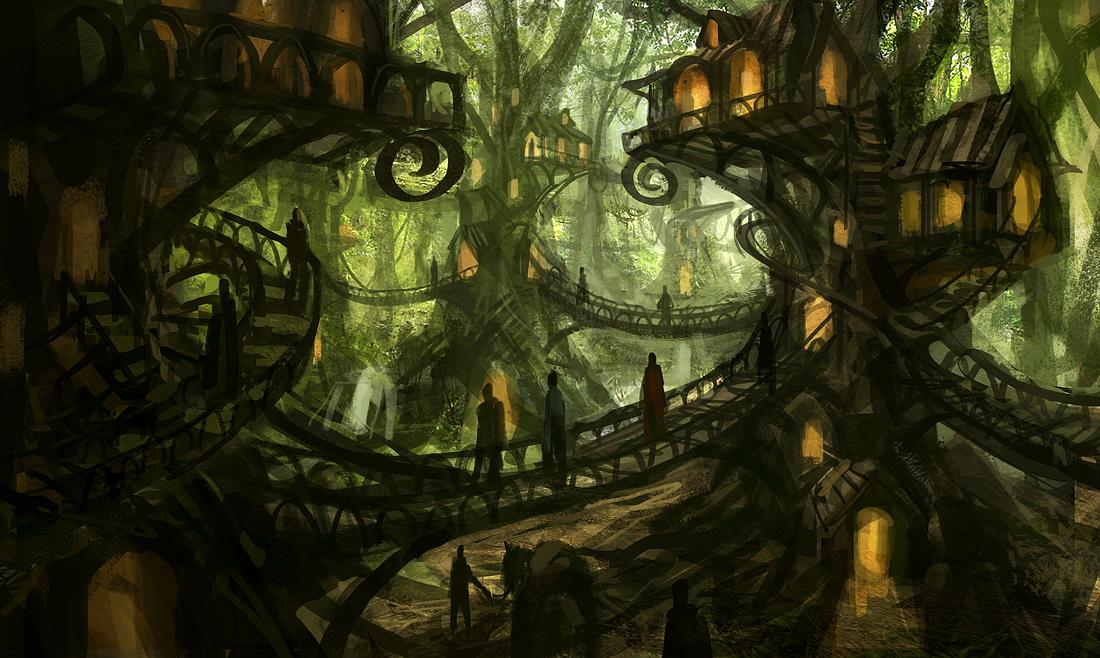 [Missão narrada] Pan lives inside us - Guilherme R. Mckinnon Tree_village_by_e_mendoza-d4iazh5
