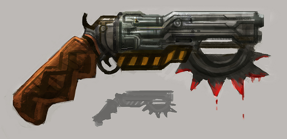 Post Apoc Revolver by e-mendoza