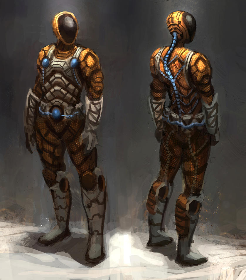 Space Mining Suit by eddie-mendoza