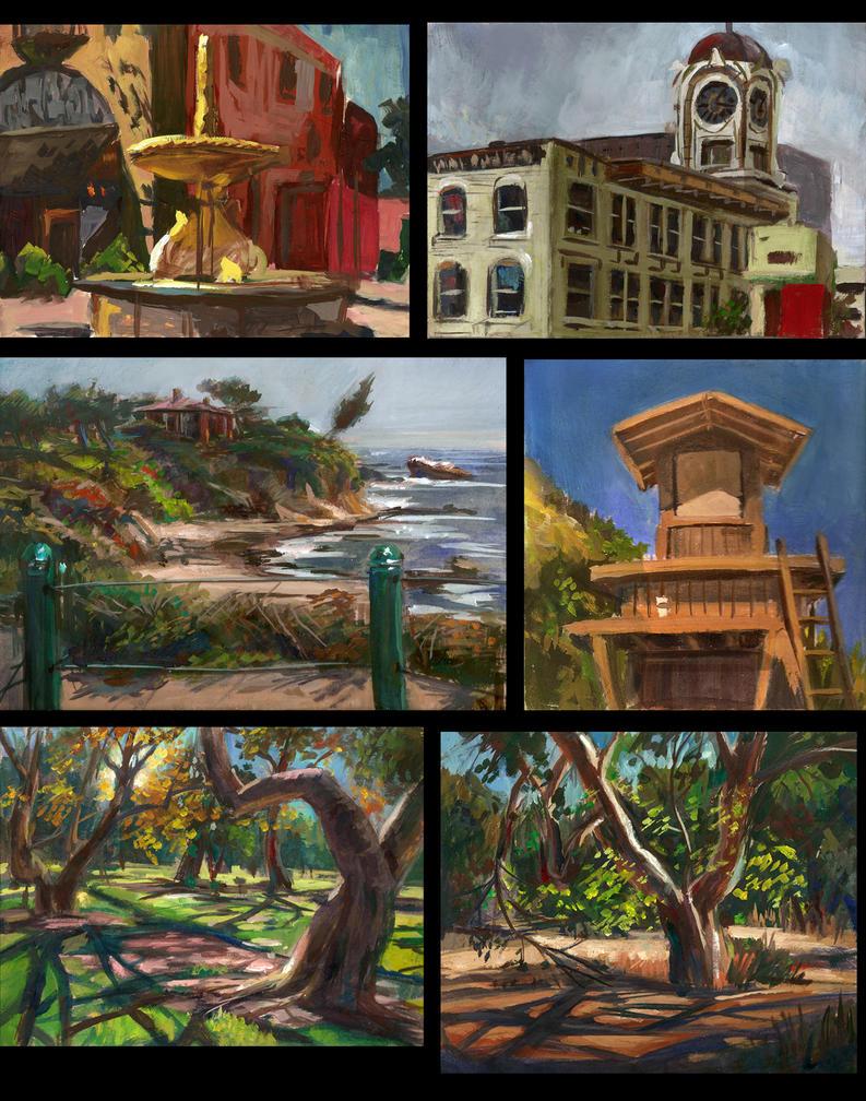 Landscape painting by e-mendoza