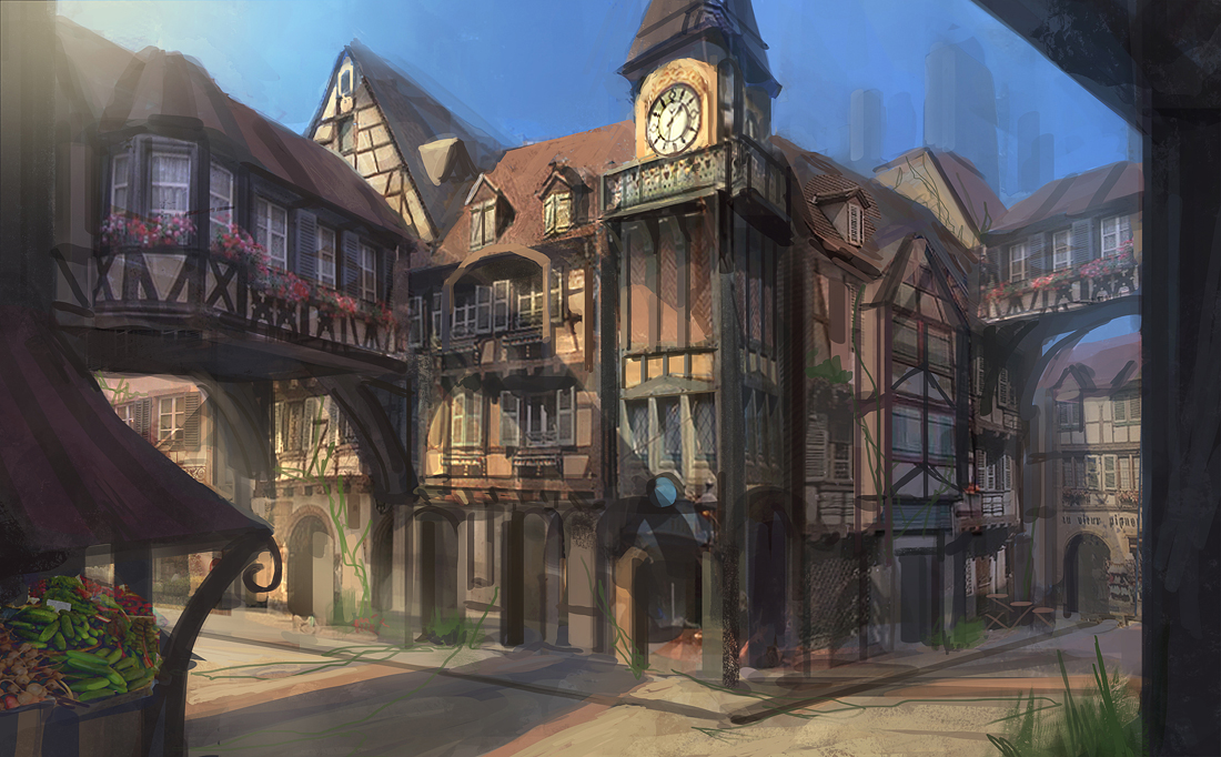 Fantasy RPG Town by e-mendoza