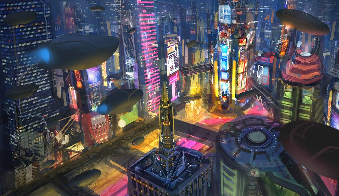 Neon Wasteland by eddie-mendoza