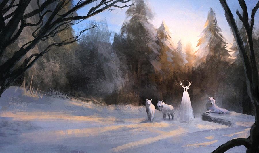Goddess of Winter by e-mendoza