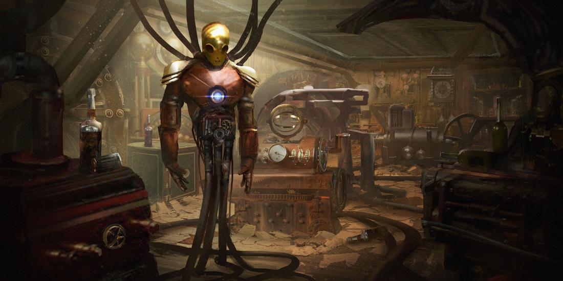 Steampunk Iron Man by e-mendoza
