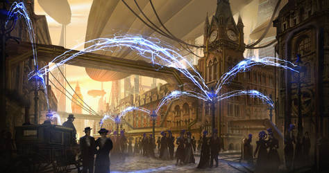 Tesla City by eddie-mendoza