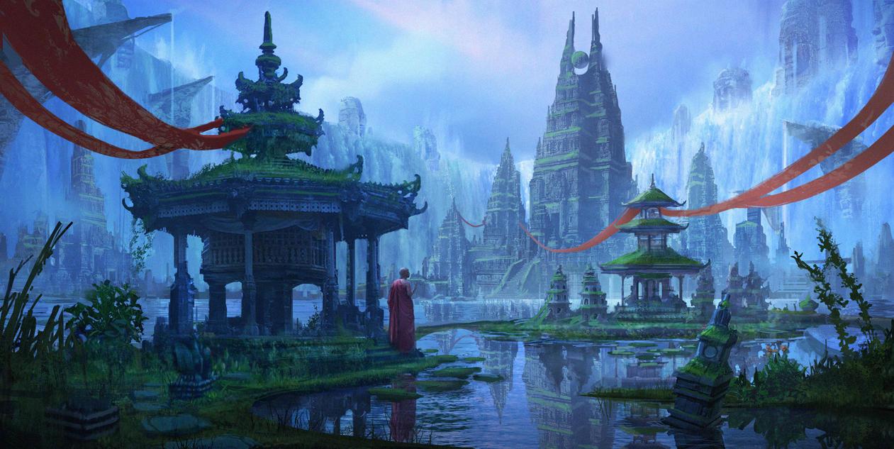 Ilustrasi Atlantis di Indonesia