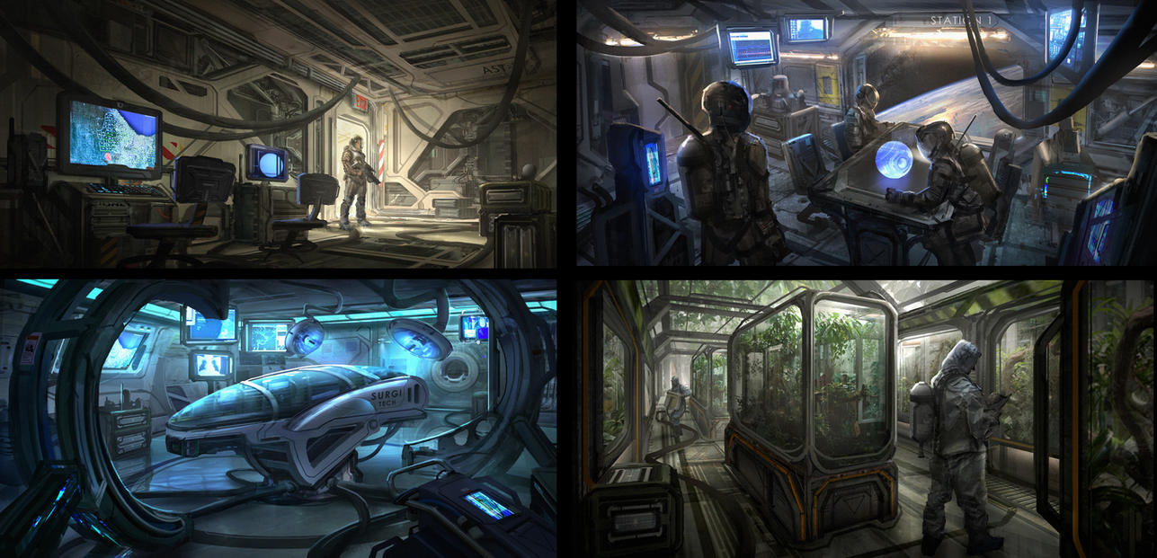 Sci Fi Interiors By Eddie Mendoza On Deviantart