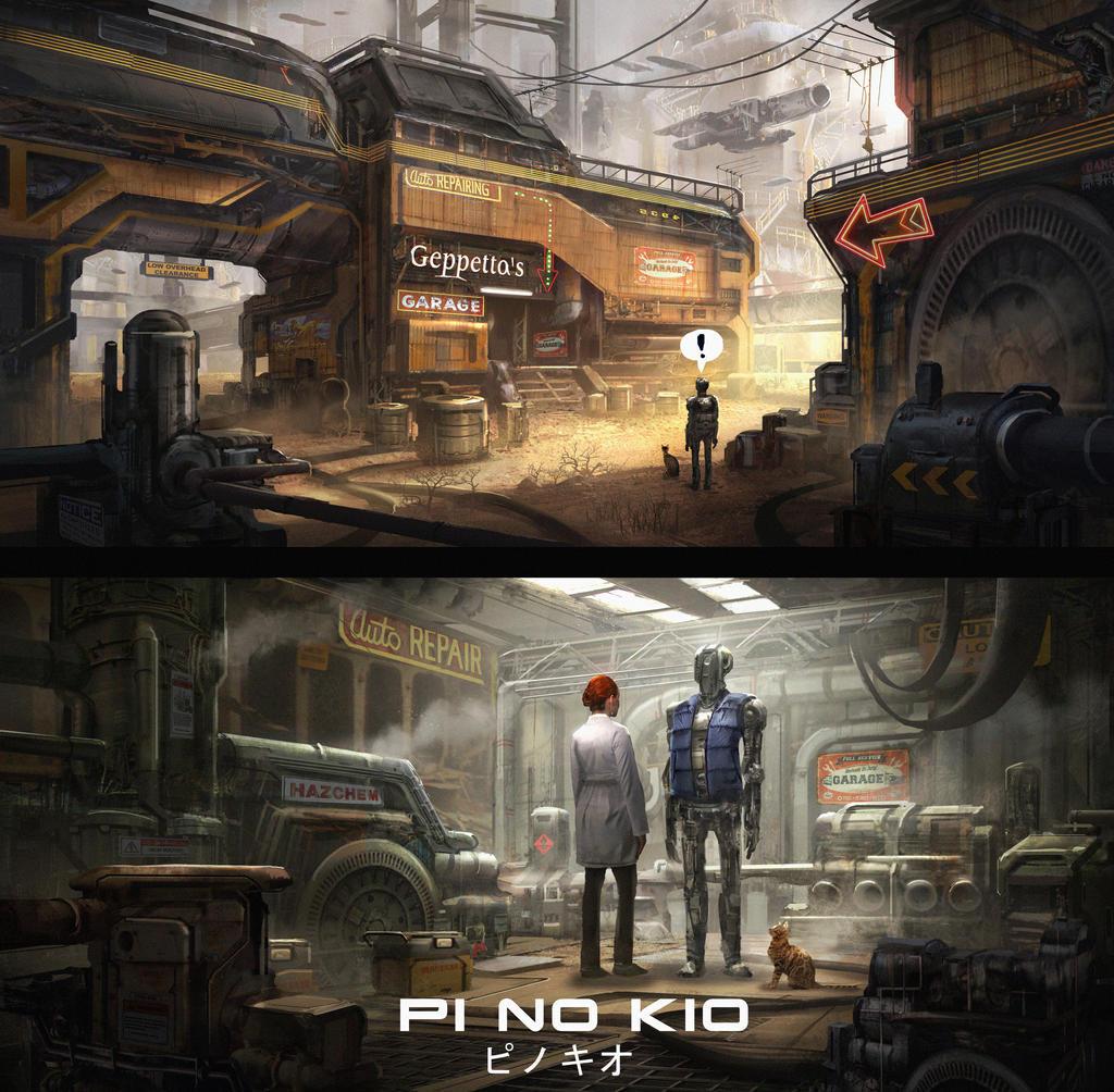Post-apocalyptic Pinocchio by eddie-mendoza