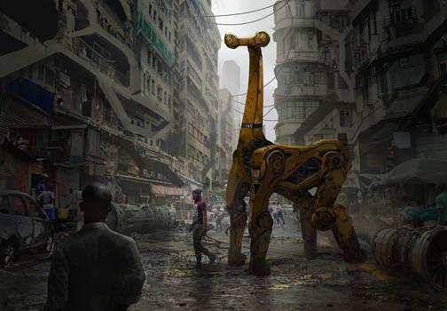 Giraffe Mech by eddie-mendoza